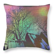 Arbor In The City 6 Throw Pillow