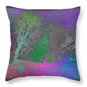 Arbor In The City Throw Pillow