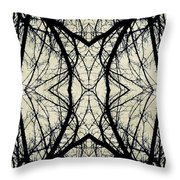 Arboreal Web Throw Pillow