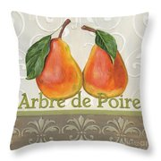 Arbre De Poire Throw Pillow