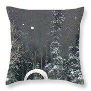 Arc De Neige  Throw Pillow