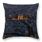Arc De Triomphe From Above Throw Pillow