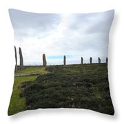 Arc Of Stones At The Ring Of Brodgar Throw Pillow