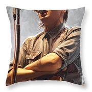 Arcade Fire Win Butler Artwork Throw Pillow
