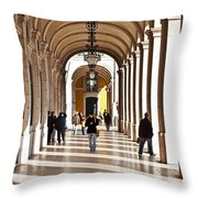 Arcades Of Lisbon Throw Pillow