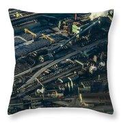 Arcelormittal Dofasco In Winter Throw Pillow