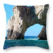 Arch At Land's End Throw Pillow