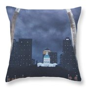 Arch At Night Throw Pillow