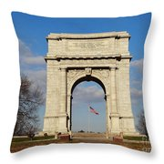 Arch At Valley Forge Throw Pillow