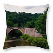 Arch Bridge Across Casselman River Throw Pillow