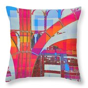 Arch Five  - Architecture Of New York City Throw Pillow