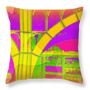 Arch Four - Architecture Of New York City Throw Pillow