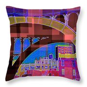 Arch One - Architecture Of New York City Throw Pillow