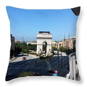 Arch Morning View Throw Pillow