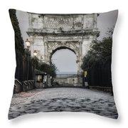 Arch Of Titus Morning Glow Throw Pillow
