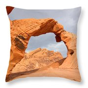 Arch Rock In The Valley Of Fire State Park In Nevada Throw Pillow