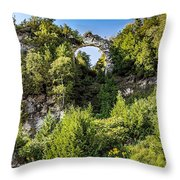 Arch Rock Mackinac Island Michigan Throw Pillow
