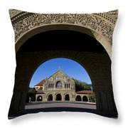 Arch To Memorial Church Stanford California Throw Pillow