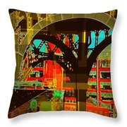 Arch Two - Architecture Of New York City Throw Pillow