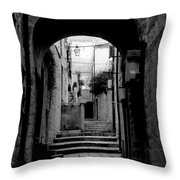 Arch Walkway Throw Pillow