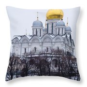 Archangel Cathedral Of Moscow Kremlin - Featured 3 Throw Pillow