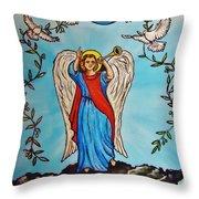 Archangel Gabriel Throw Pillow
