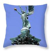 Archangel Gabriel Statue In Budapest Throw Pillow