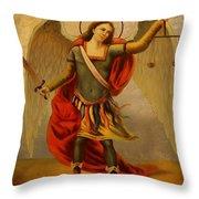 Archangel Michael Throw Pillow