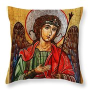 Archangel Michael Icon Throw Pillow