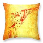 Archangel Michael  Throw Pillow by Lali Kacharava