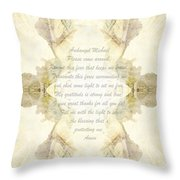 Archangel Michael Remove Fear  Throw Pillow