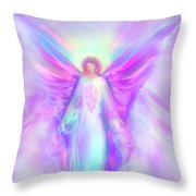 Archangel Raphael Throw Pillow by Glenyss Bourne