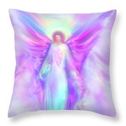 Archangel Raphael Throw Pillow