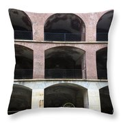 Arched Brick Portals Fort Point San Francisco Throw Pillow