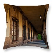 Arched Corridor Throw Pillow