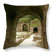 Arched Entrance To Fiesole Theatre Throw Pillow