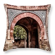 Arched  Gate Throw Pillow