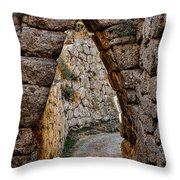 Arched Medieval Gate Throw Pillow
