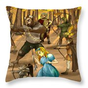 Archery In Oxboar Throw Pillow