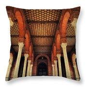 Arches And Columns Of Plaza De Espana 1. Seville Throw Pillow