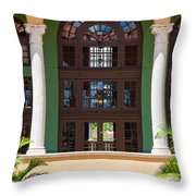 Arches And Doors At The Biltmore Throw Pillow