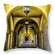 Arches And Lanterns Throw Pillow by Thomas R Fletcher