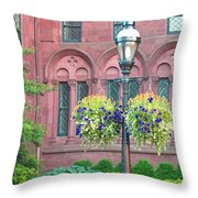 Arches And Potted Plants Throw Pillow