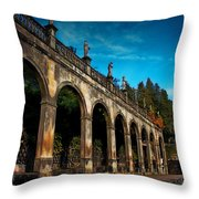 Arches And Statues Throw Pillow