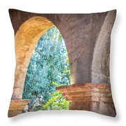 Arches At Mission San Juan Capistrano Throw Pillow