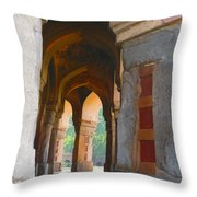 Arches At Red Fort Throw Pillow