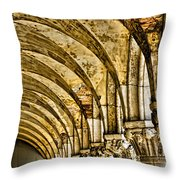 Arches At St Marks - Venice Throw Pillow