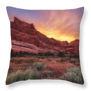 Arches Fire In The Sky Throw Pillow