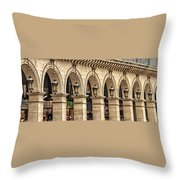 Arches In A Row  Throw Pillow