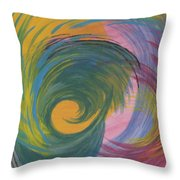 Arches  Swirls Throw Pillow